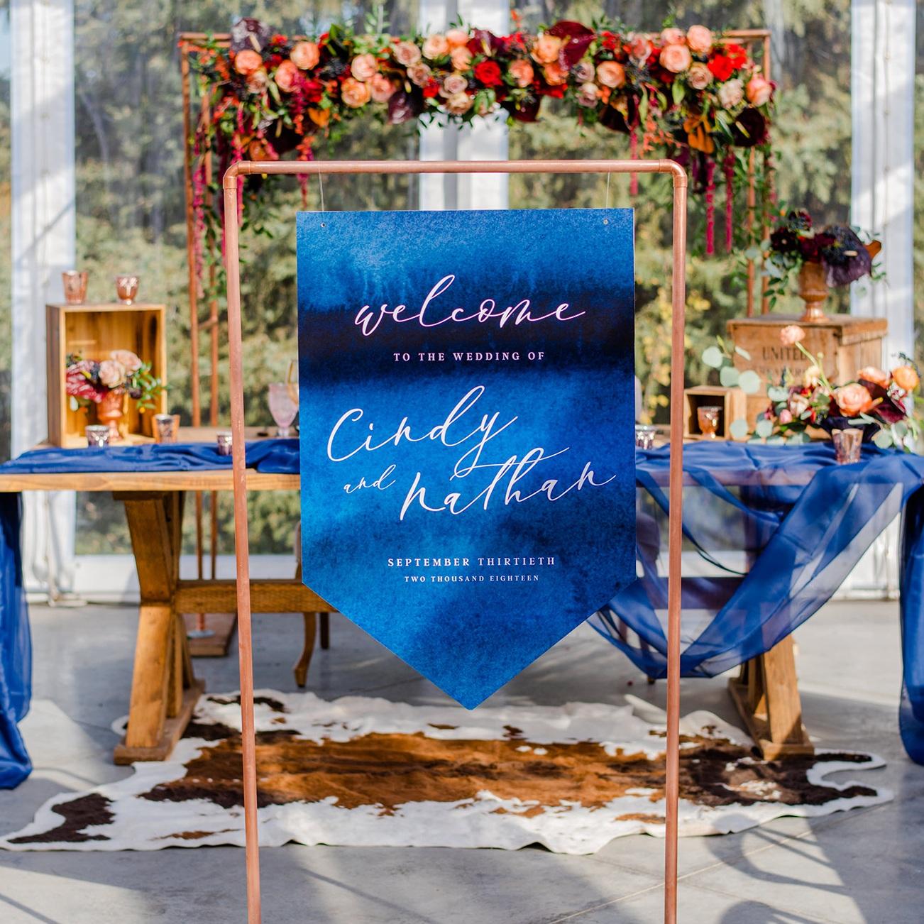 Welcome Sign Calgary Wedding Invitation