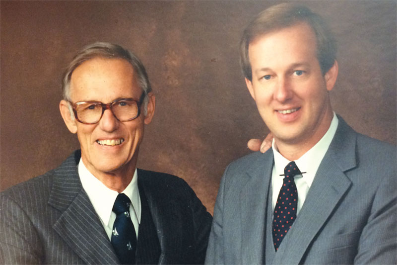 Founder and President, Fred H. Hamblet (left) with son Philip M. Hamblet (right), who served as President from 1986-2013