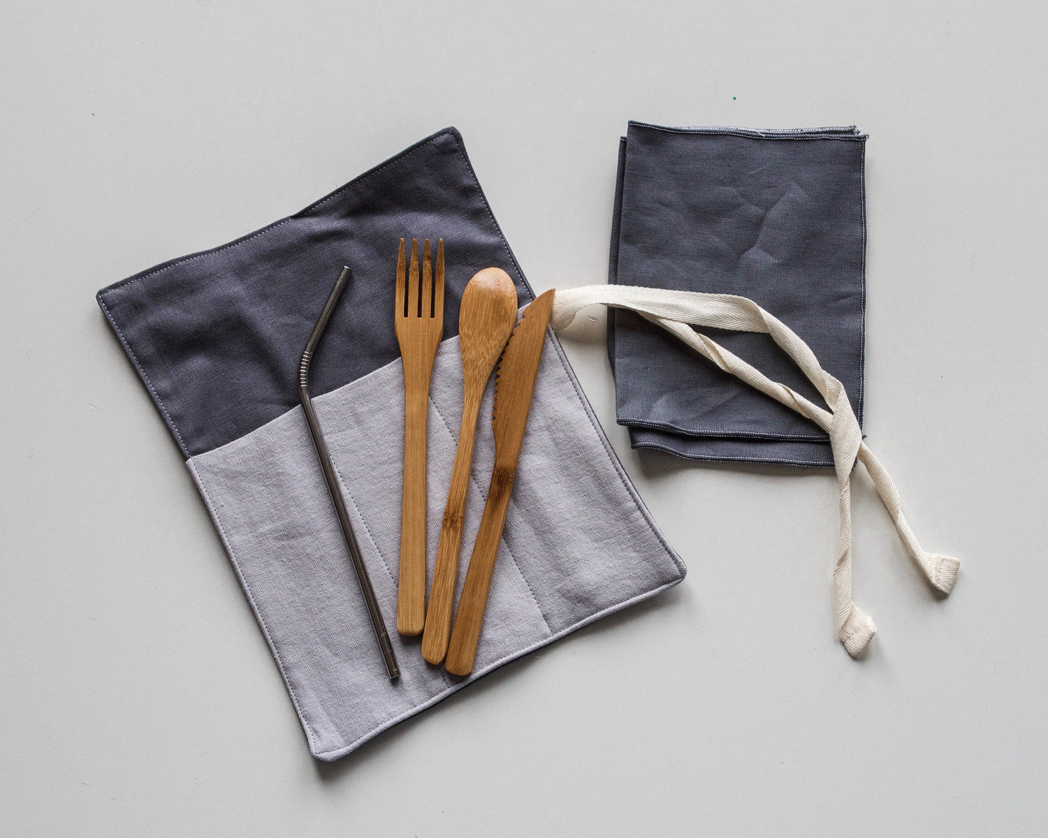 wood utensils and wrap
