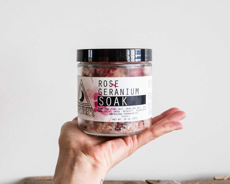 Rose + Geranium Soaking Salts