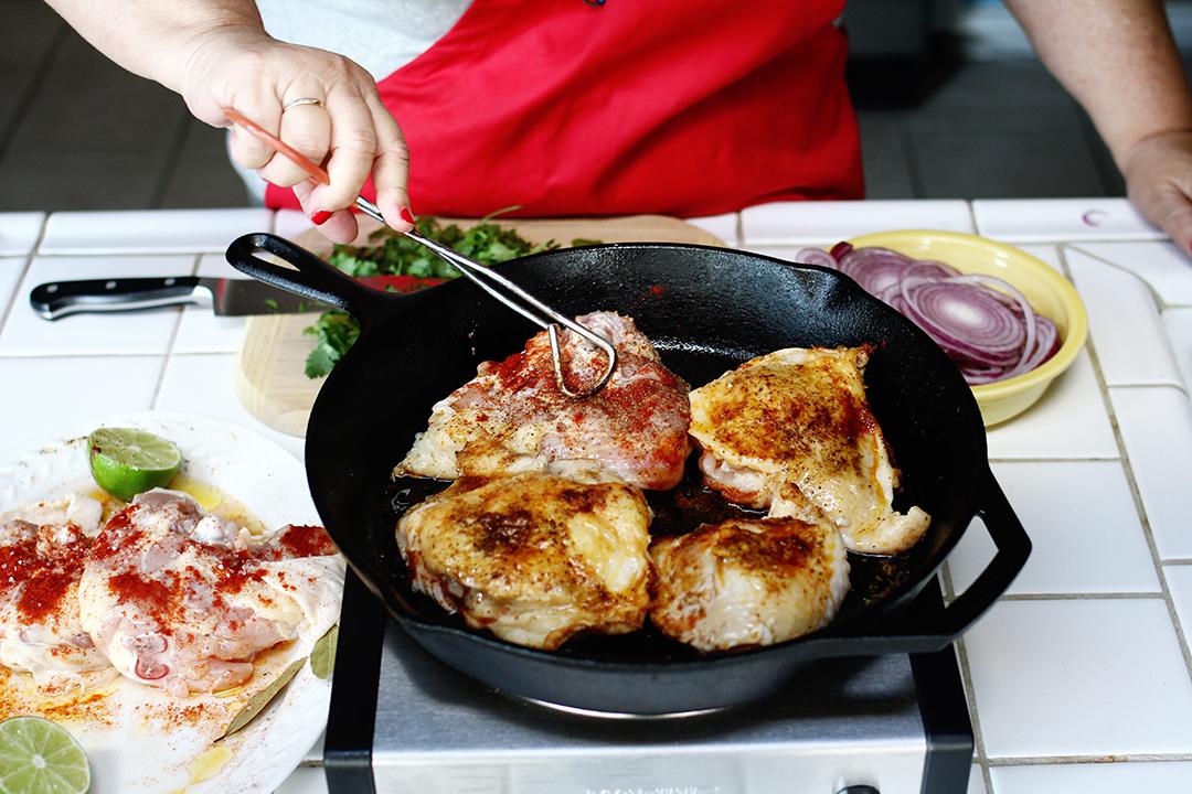 My Big Fat Cuban Family - Pollo Encebollado Recipe