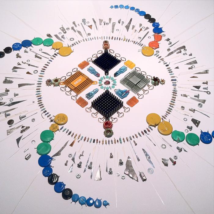 Electronic Mandala (framed piece), 2016