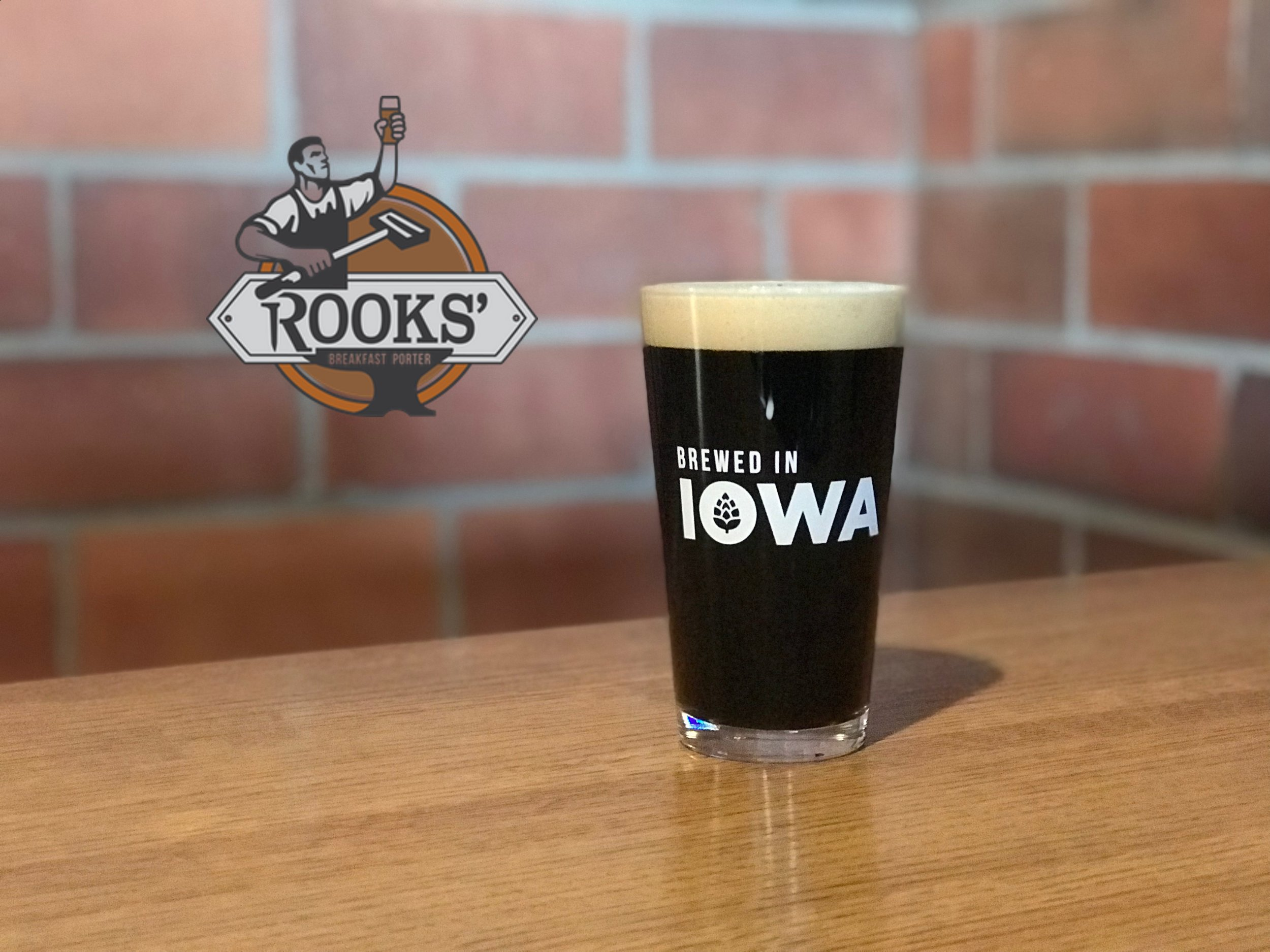 Rooks' Breakfast Porter -  Our vanilla coffee porter is a malty, dark beer that pours silky black. With an enticing aroma of sweet vanilla and coffee, this porter finishes much ligther than it looks. Blended with two different types of cold brewed coffee, this delicious beer is perfect for any time of day!  5.1% ABV - 18 IBUs