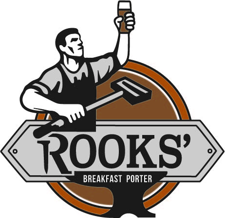 Rook's Breakfast Porter - Our vanilla coffee porter is a malty, dark beer that pours silky black. With an enticing aroma of sweet vanilla and coffee, this porter finishes much ligther than it looks. Blended with two different types of cold brewed coffee, this delicious beer is perfect for any time of day!5.1% ABV - 18 IBUs