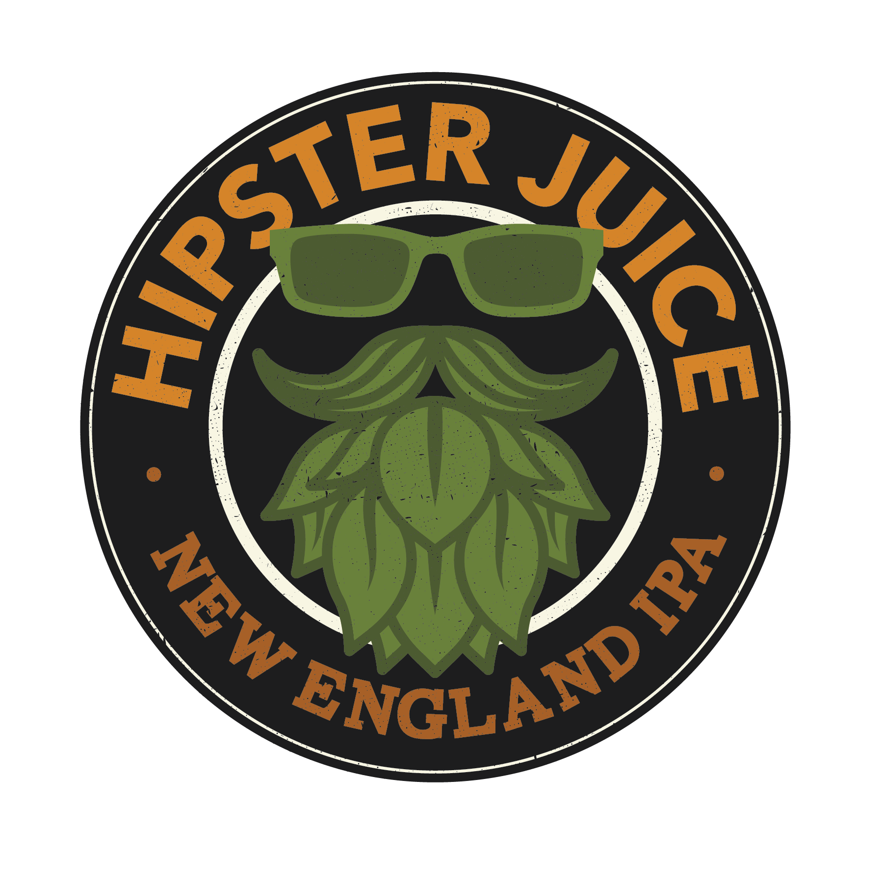 Hipster Juice IPA - A hop trifecta! The Cascade, Citra and Mosaic hops shine thru the haze by imparting huge notes of tropical fruit, floral and spicy aroma and flavors!5.8% ABV 50 IBUs