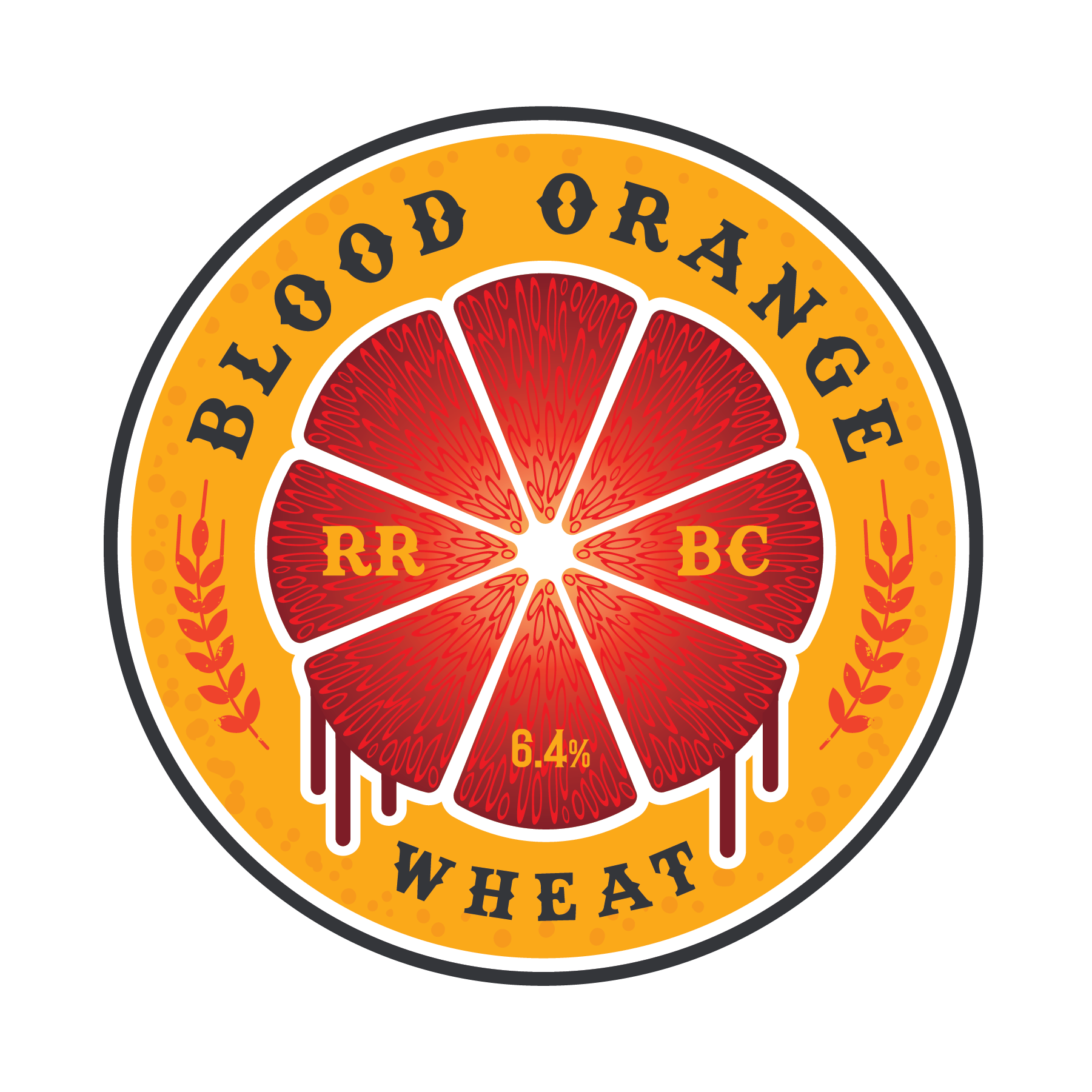 Blood Orange Wheat - This wheat beer is loaded with tons of oranges and a touch of honey that exudes the perfect amount of citrus goodness while also taking the edge off that Midwest summer heat!7.0% ABV - 18 IBUs