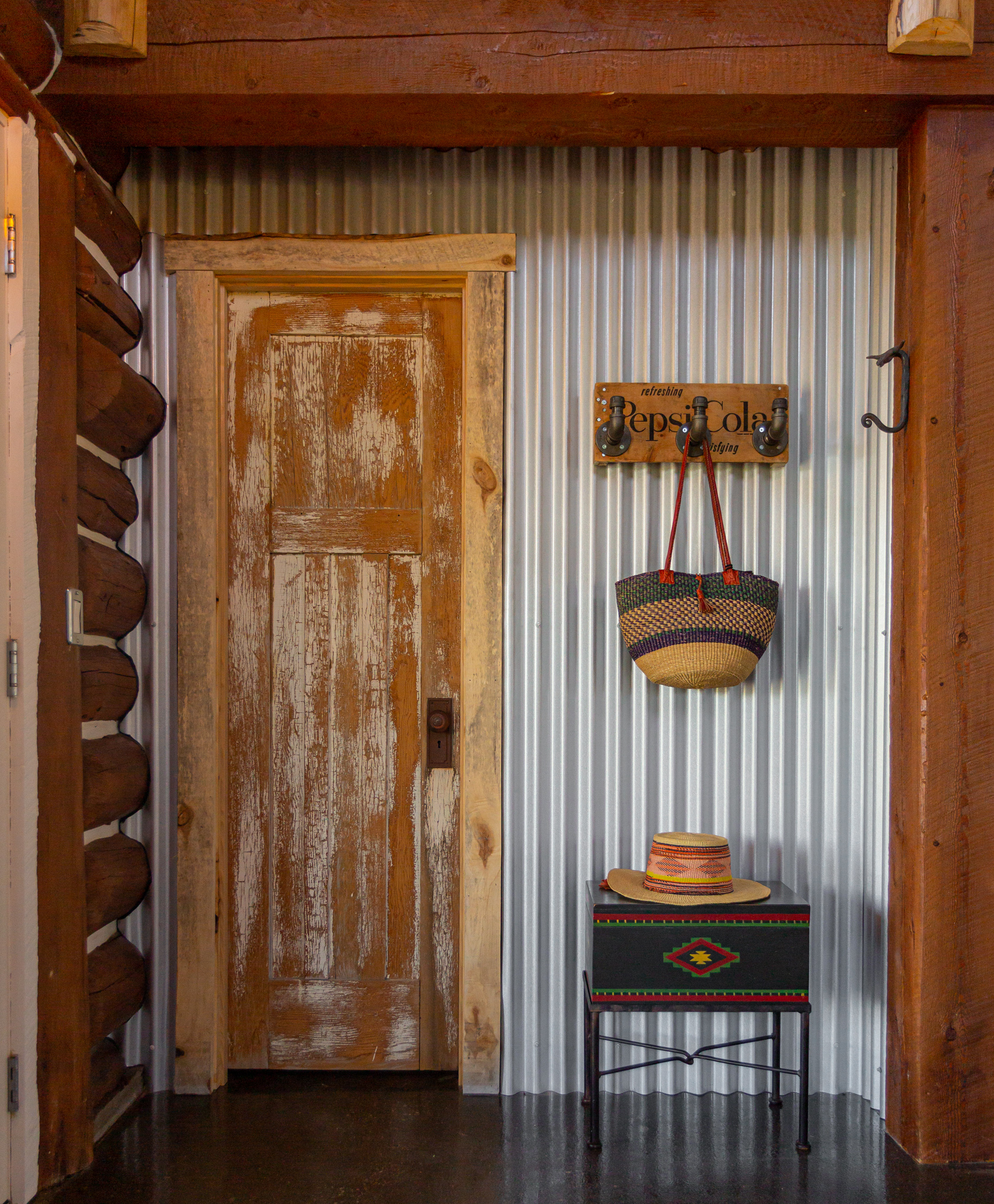 Repurposed Bathroom Door