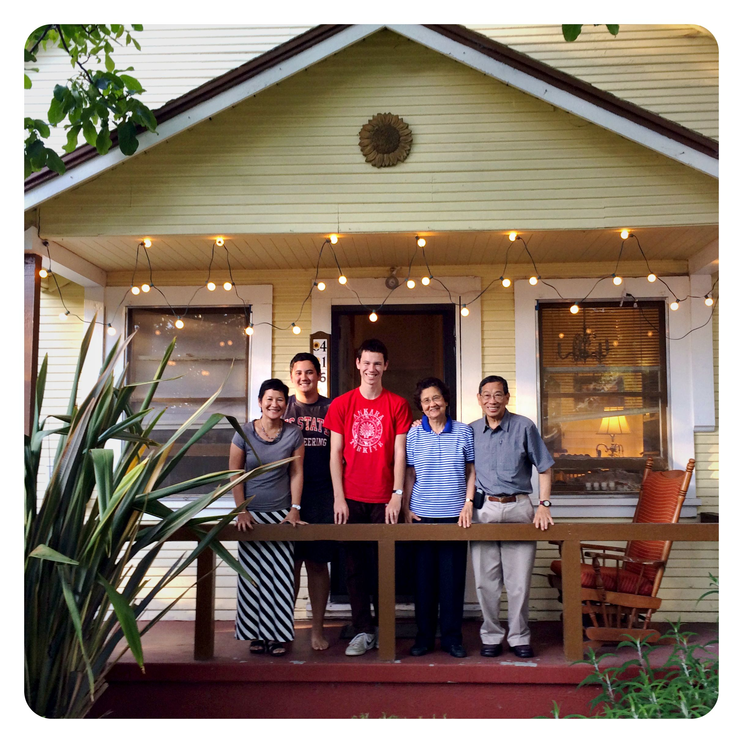 We rented a house in Mountain View, California, and it came with a social life.