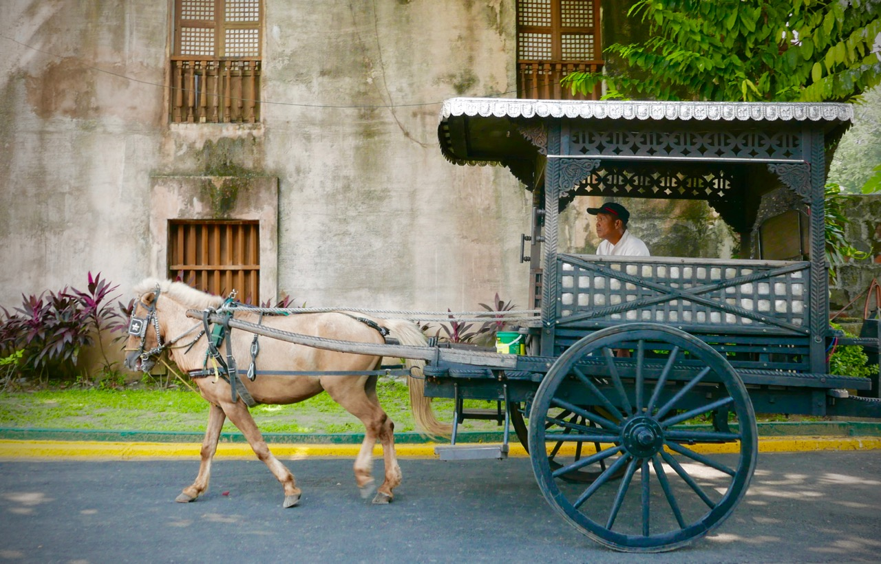 A calesa on the streets of old Manila.