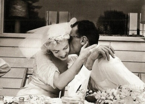 Marilyn Monroe and Arthur Miller. 1956.