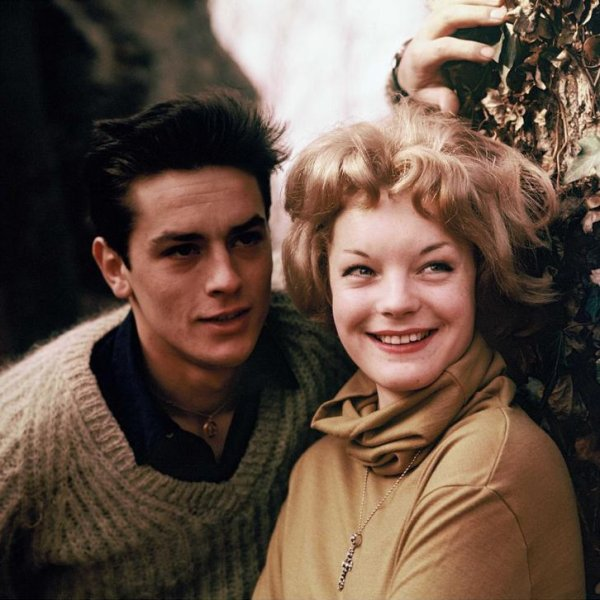 Alain and Romy together. Late 1950s.