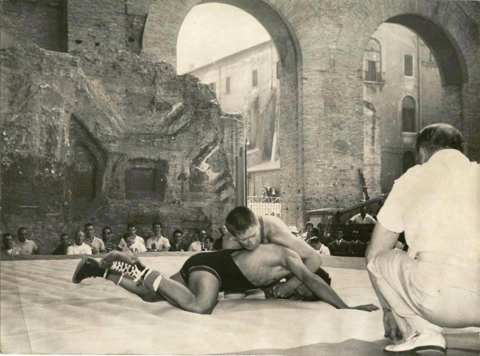 lee allen wrestling at the 1960 olympic games in rome, italy