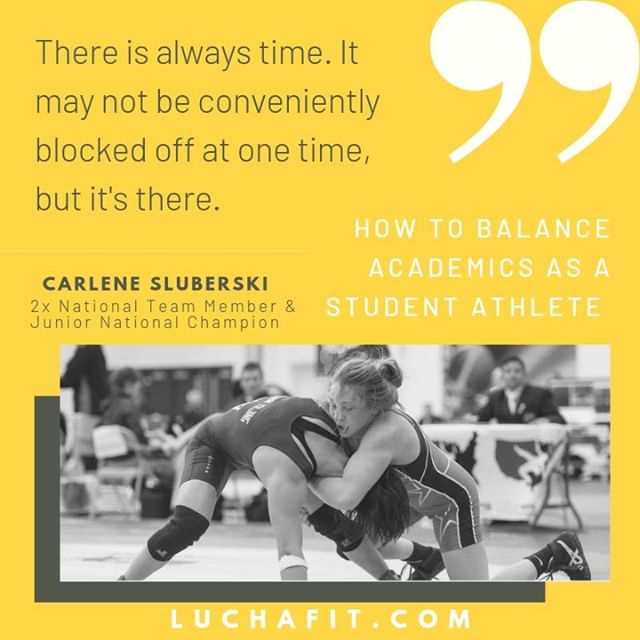 """There is always time. It may not be conveniently blocked off at one time, but it's there."" 🕝 ⠀ ⠀ ""How to Balance Academics as a Student Athlete"" 📝🤼⠀ ⠀⠀ 📖: Link in Bio⠀ ⠀ #motivationmonday #luchafit #luchafitfamily #athleteblog #athleteslife #athleteblogger #wrestling #wrestlelikeagirl #girlswrestling #luchaleague #womenswrestling #womeninsport #freestylewrestling #athlete #strugglefightwrestle #womensempowerment"