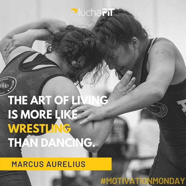 """The Art of Living is More Like Wrestling than Dancing."" - Marcus Aurelius 🤼 • 📷: @nv_va_ ⠀ #motivationmonday #luchafit #luchablog #luchafit #athleteblog #athleteslife #athleteblogger #wrestling #wrestlelikeagirl #girlswrestling #luchaleague #girlswrestletoo #womenswrestling #californiausawrestling"