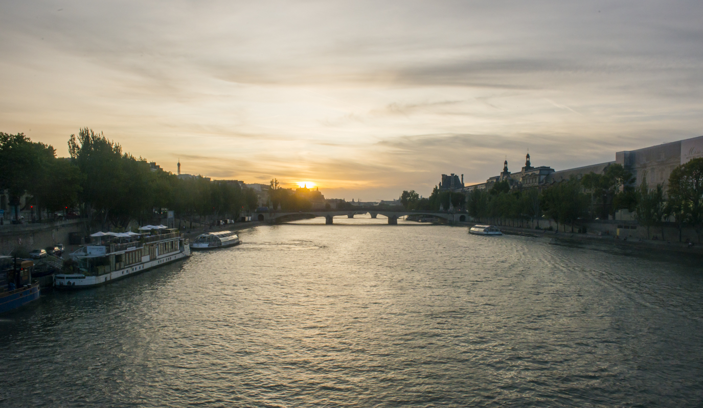 From the Pont des Arts (my favorite spot in Paris.
