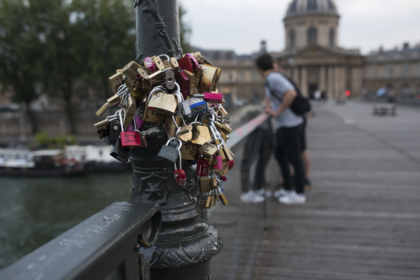 Maybe here back at the Pont des Arts?