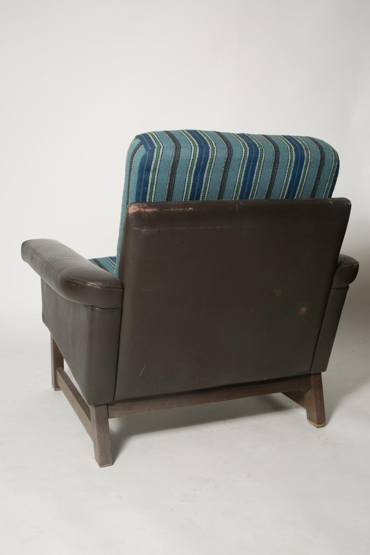 Danish leather modern blue wool chair 7.jpg