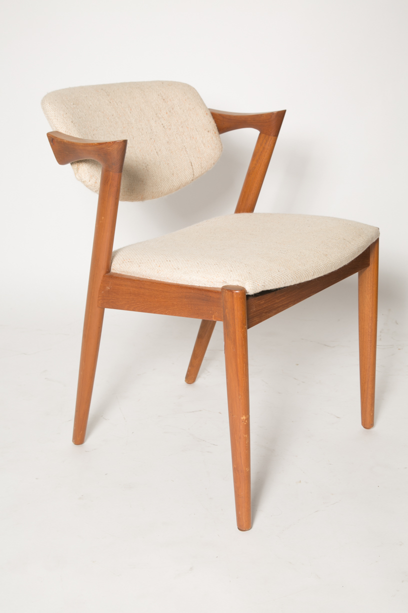 Kai Kristiansen Z chairs in cream fabric