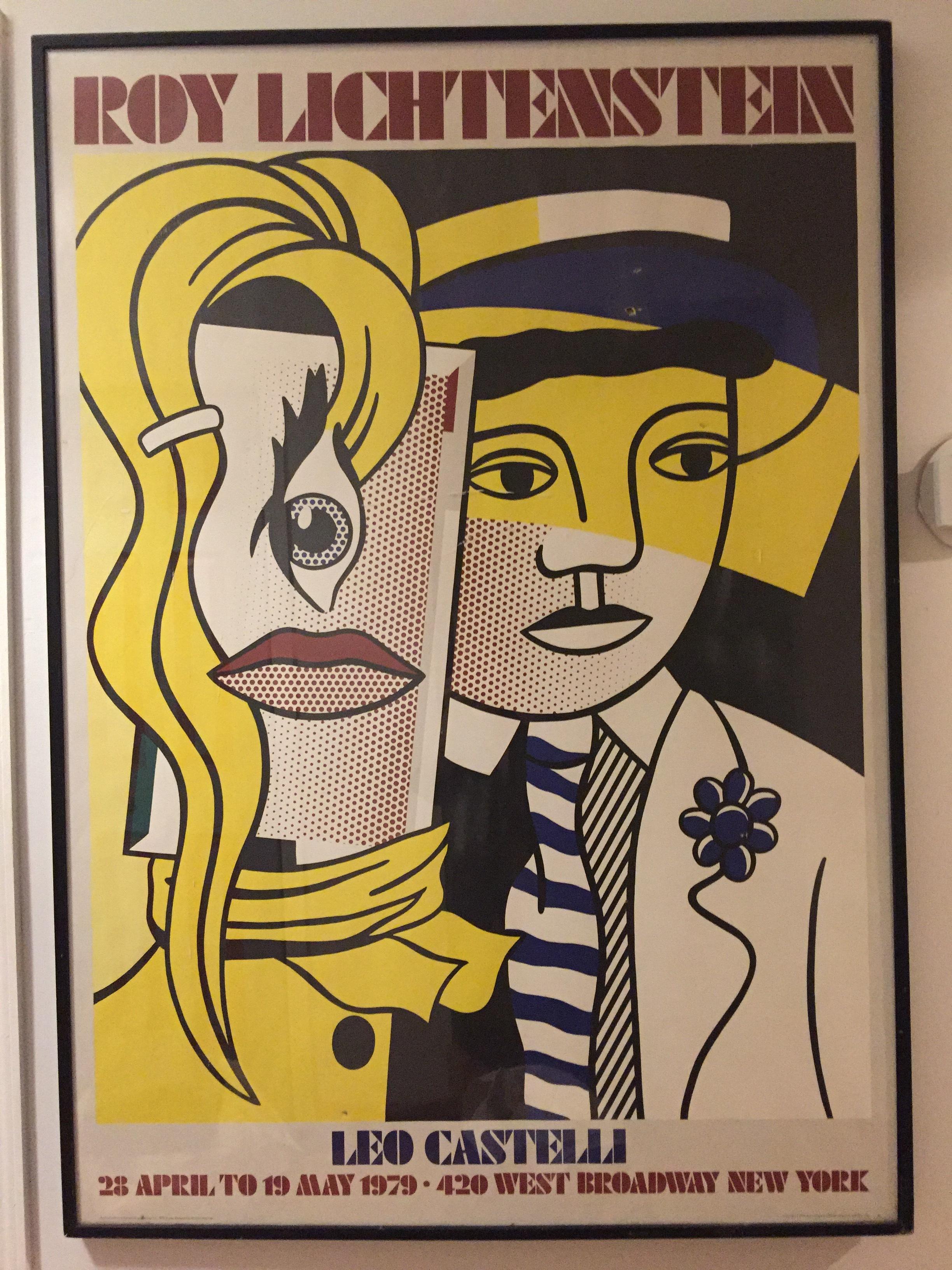 """Roy Lichtenstein - """"Stepping out"""" Leo Castelli silkscreen"""