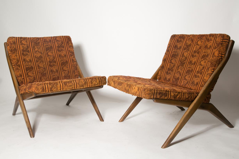 Folke Ohlsson Dux Scisor Chairs