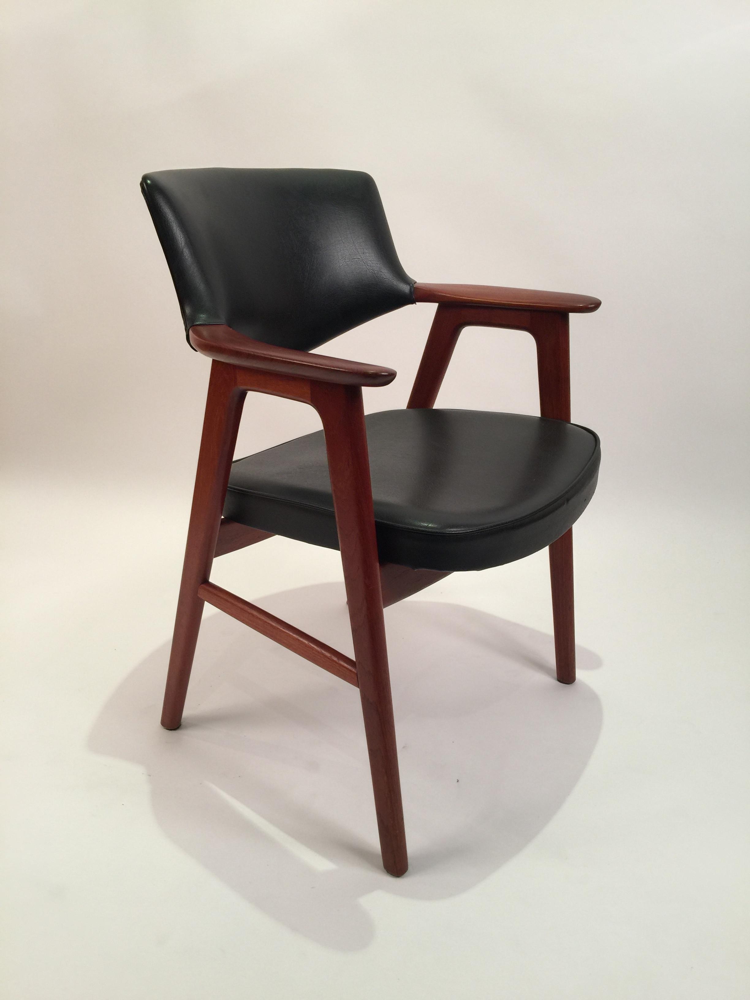 Erik Kierkegaard for Hong Stolfabrik armchair in black leather 10.JPG