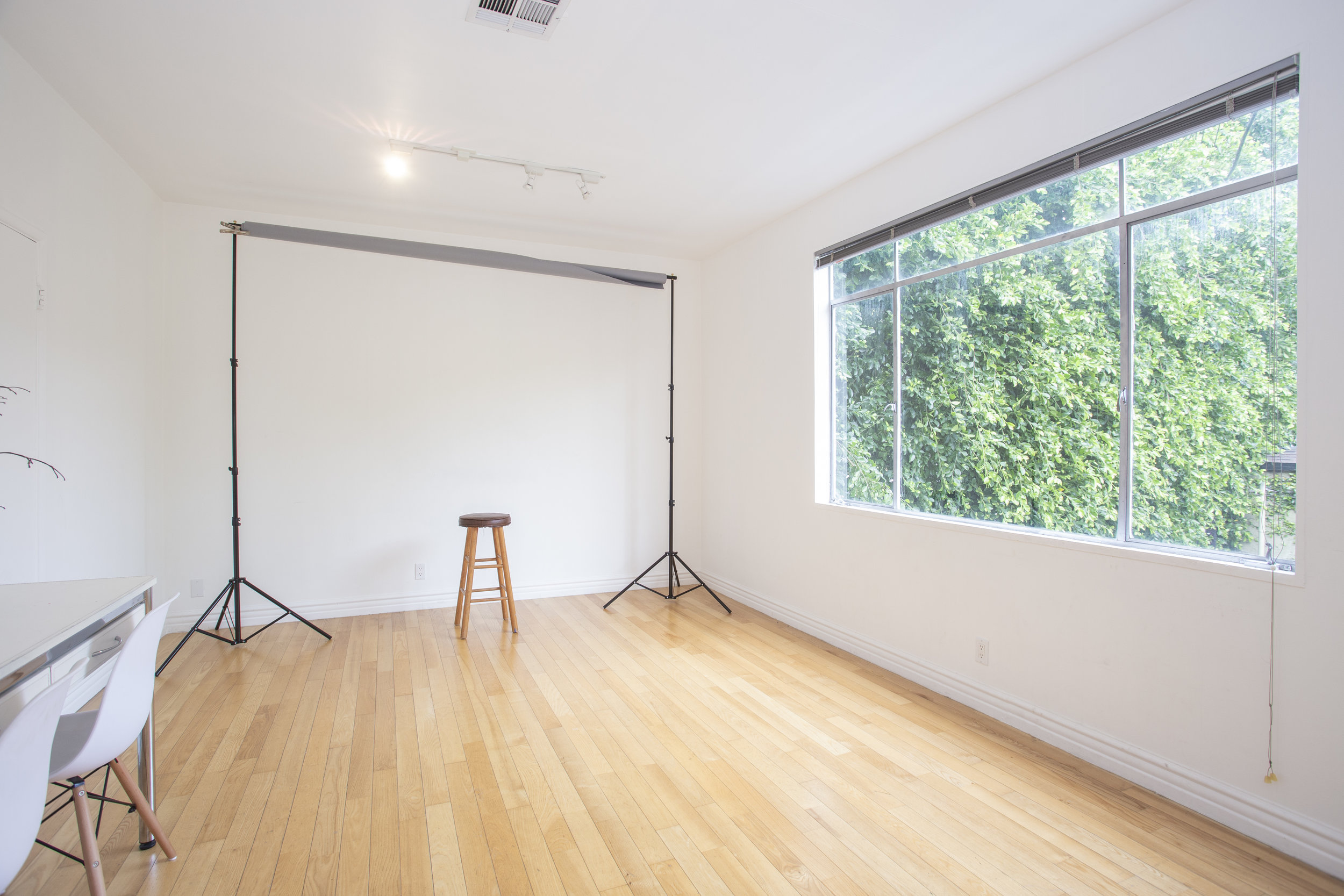 welcome to studio w - Studio W is a multi-functional creative space in West Hollywood available for day rental. At 153 sq. feet (9'x17'), this space is fully adaptable for your next project. The space features amenities such as photo equipment, an extra room for self tapes or hair/makeup and a waiting area. Contact info@wrennmgmt.com or call 310 600 6066 for inquiries, rates, and bookings.