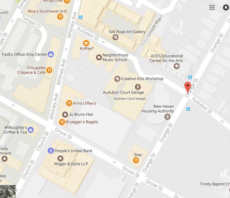 Map view of the Audubon neighborhood