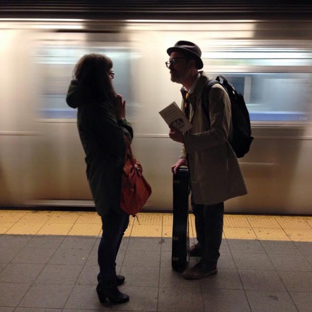 Subway from Brooklyn gig to Manhattan gigs