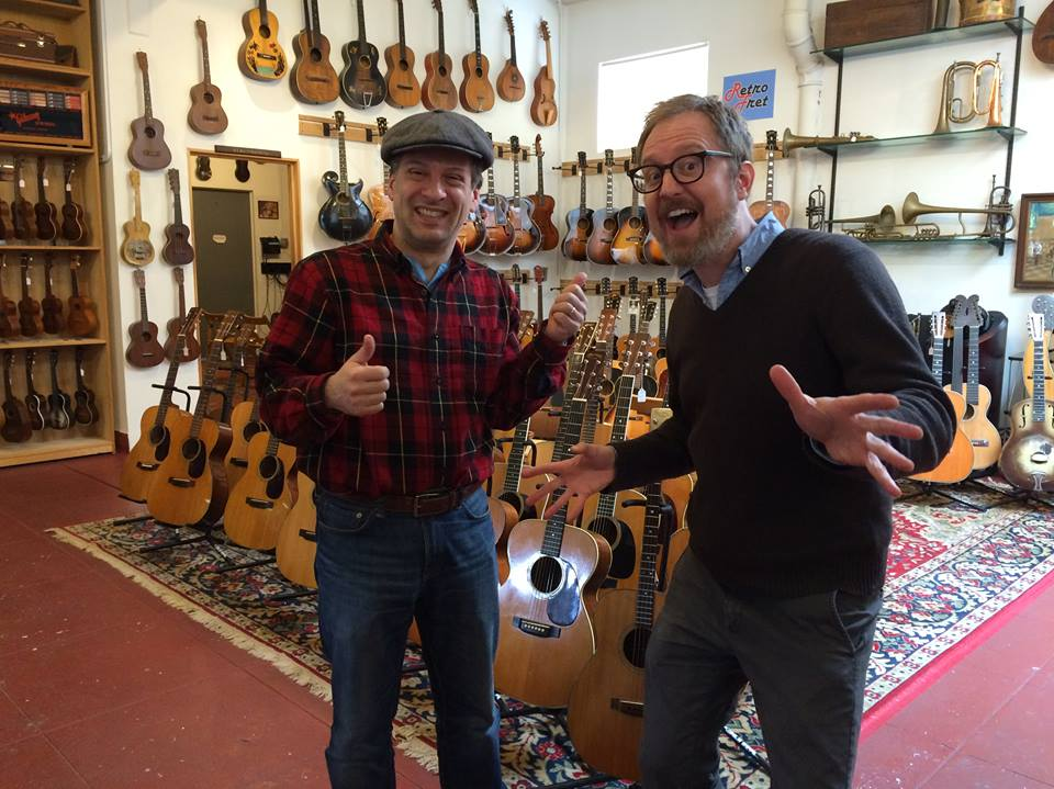 John and Angus at Retrofret...like kids in a candy store.
