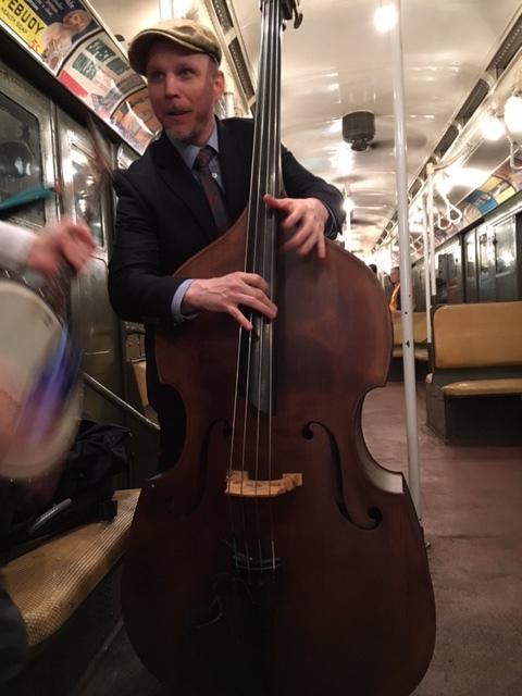Ben moonlighting on Sammy Weissberg's bass...