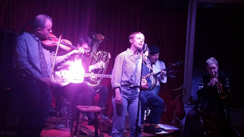 Kat Edmonson sings, Bria Skonberg plays, and everyone else feels wonderful about that... Red Room, 2/9/17 Photo: Ben Guthrie