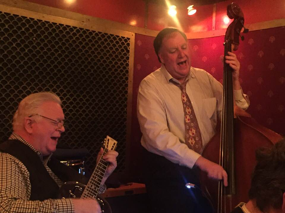 "John Gill and Brian - The Happiness Boys - singing ""Bye-bye Blackbird"" to a very appreciative Pete's Candy Store audience, 2/2/18 Photo: Manon Gaultier"
