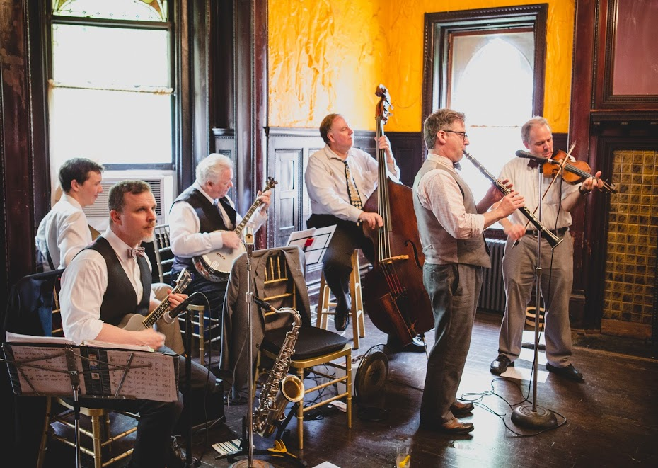 The boys playing Diana and Michael's wedding, The Montauk Club, 2018 -  Saskia Kahn Photography