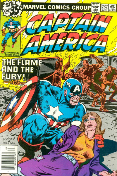 Keith Pollard Captain America cover art.