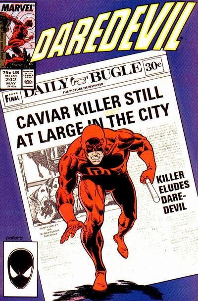 Keith Pollard Daredevil cover art.