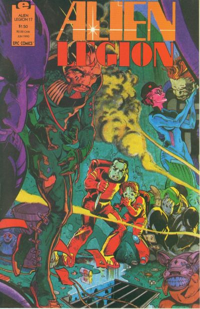 Larry Stroman, comic book artist, Alien Legion