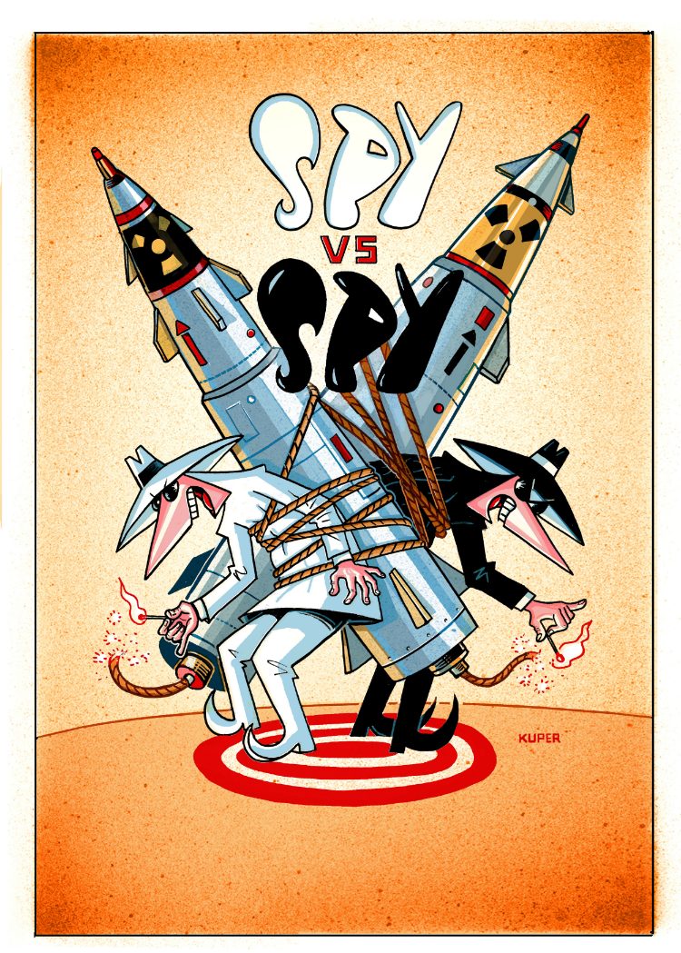 Peter Kuper, Spy vs. Spy artist at MAD Magazine, joins us in November!