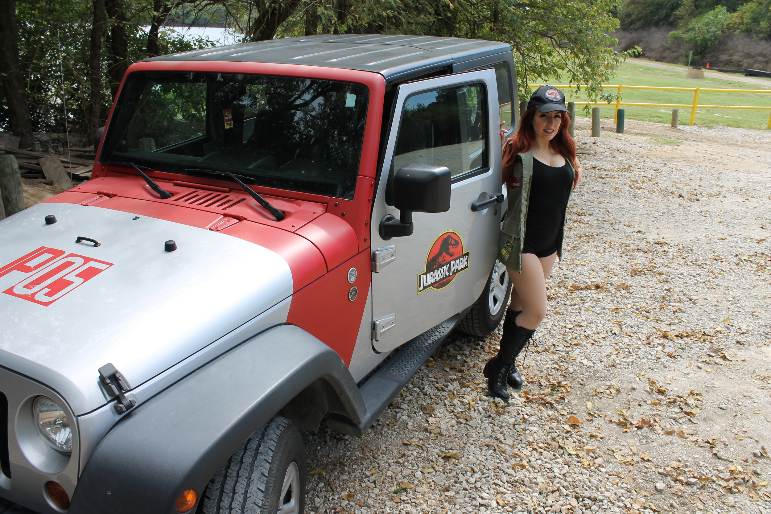 Clever Fangirl with her Jurassic Jeep