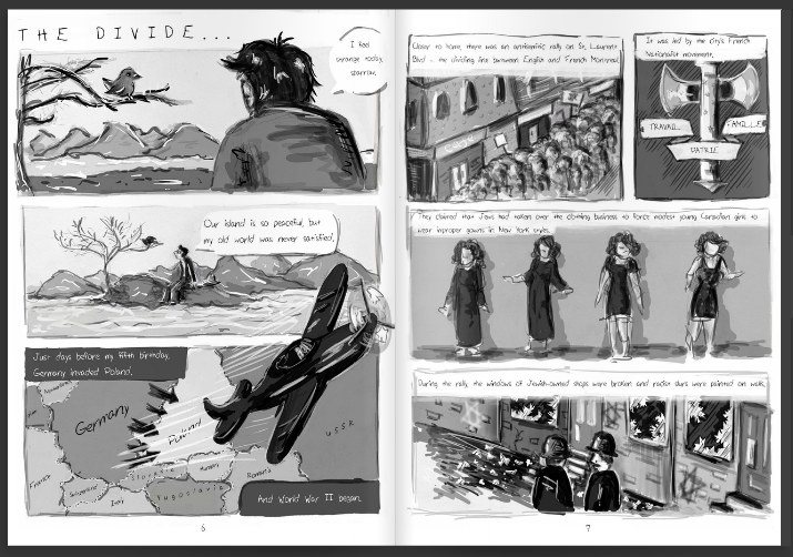 Bird on the Wire: The Life of Leonard Cohen - In 2015, I made a graphic novel about Leonard Cohen with Eleanor Milman. You can read the full novel here.