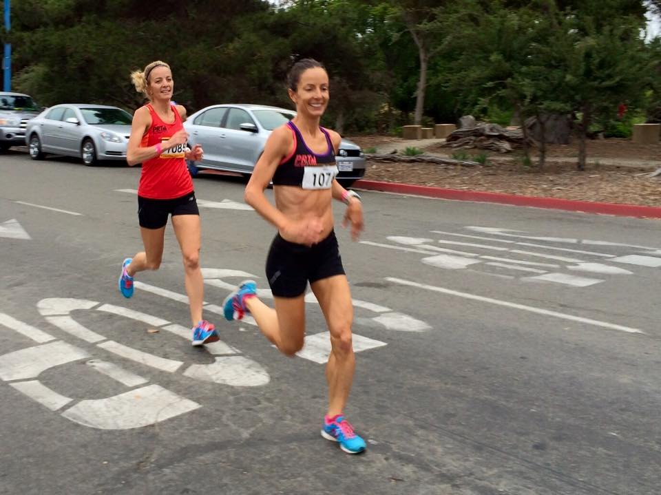 Angela Moll and Hilary Corno make racing look easy!
