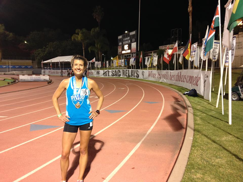Julie Sawyer took over a minute off her previous 10K PR at Mt. Sac in April.