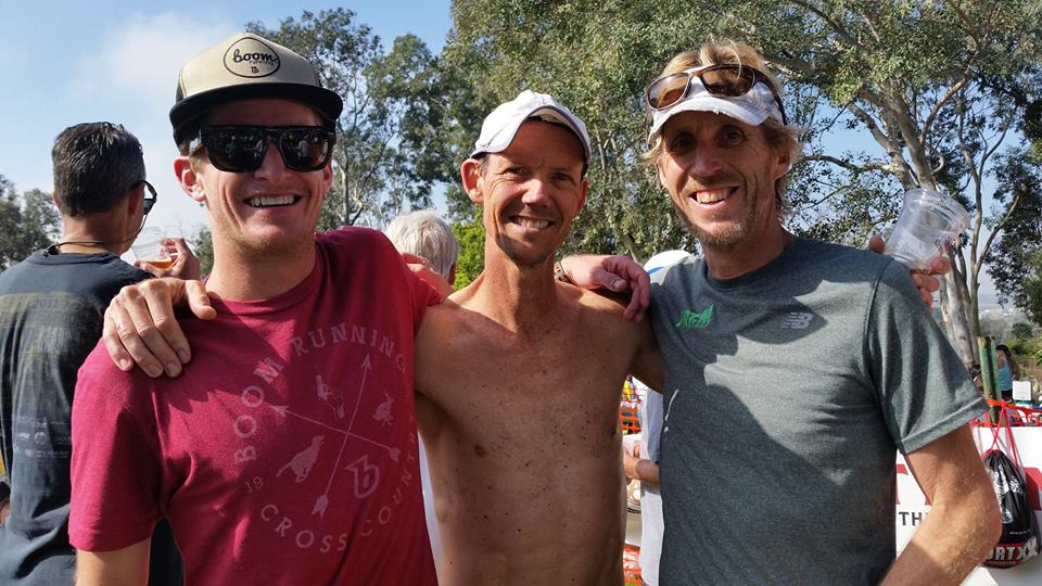 From left to right: Rory Golden, Jeff Creighton, and Gerard Reski hanging out post-race.