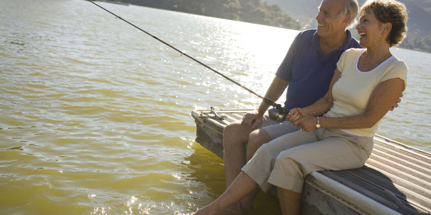 Retired couple fishing in Panama