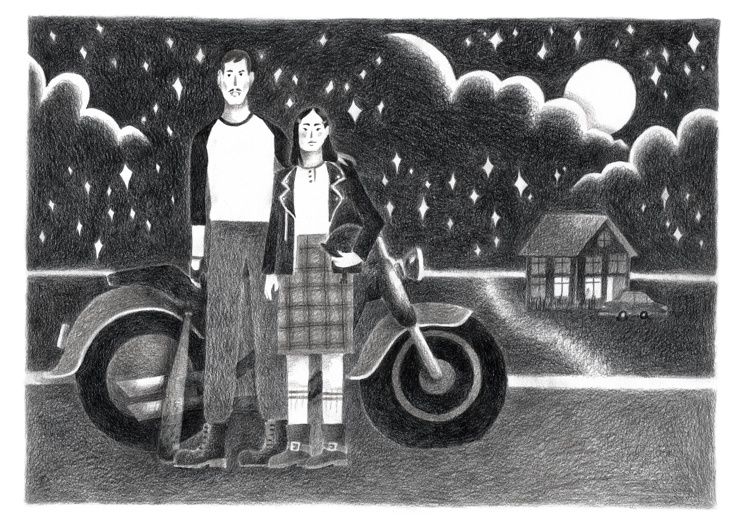 Courtney and her teenage vampire boyfriend, 2017