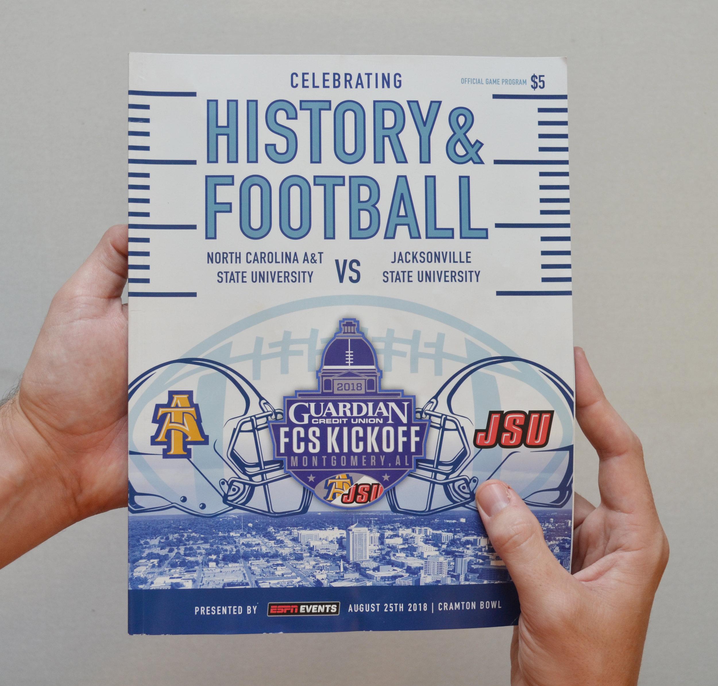 Kickoff Classic   Program Cover Design