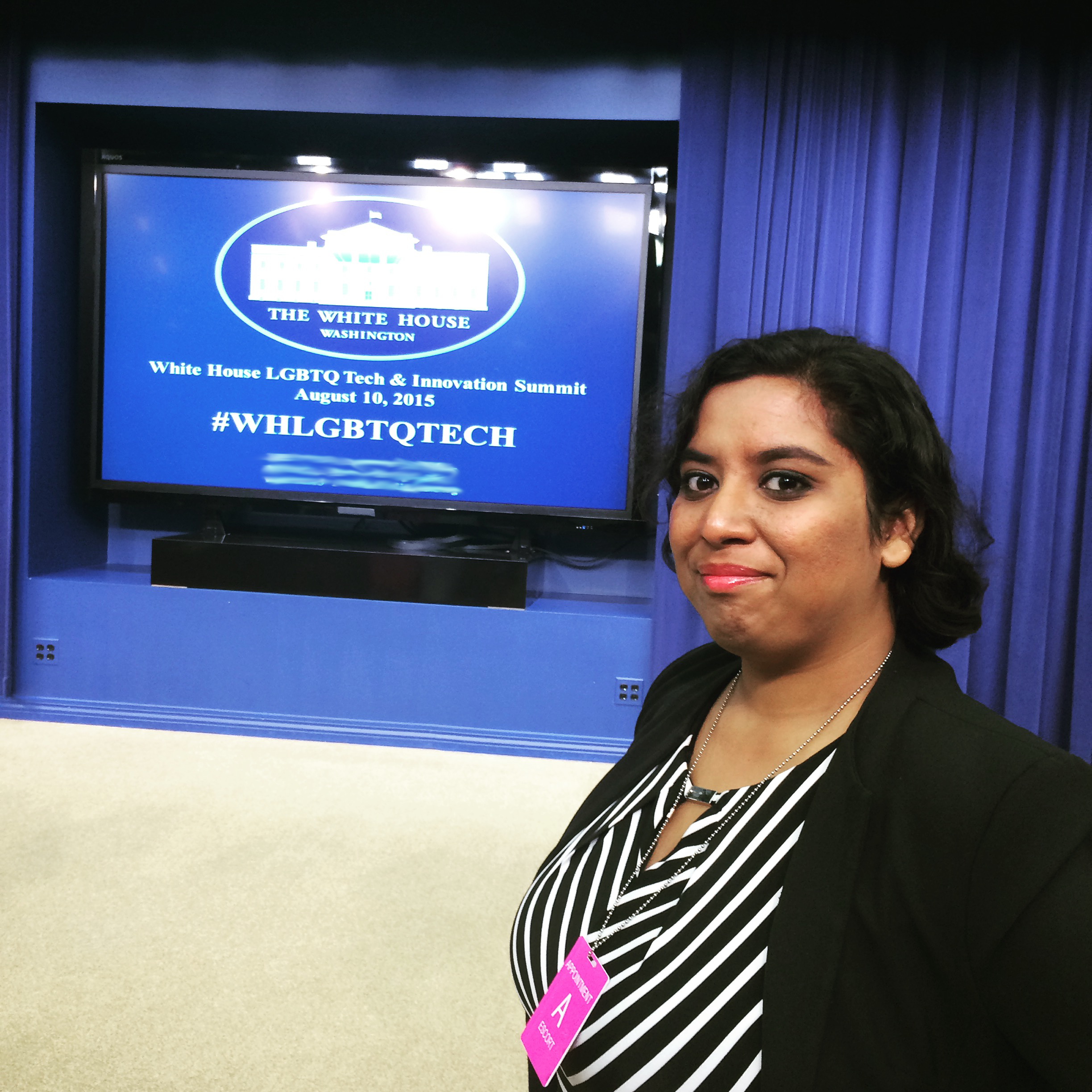 Me at the White House LGBTQ Tech & Innovation Summit in 2015