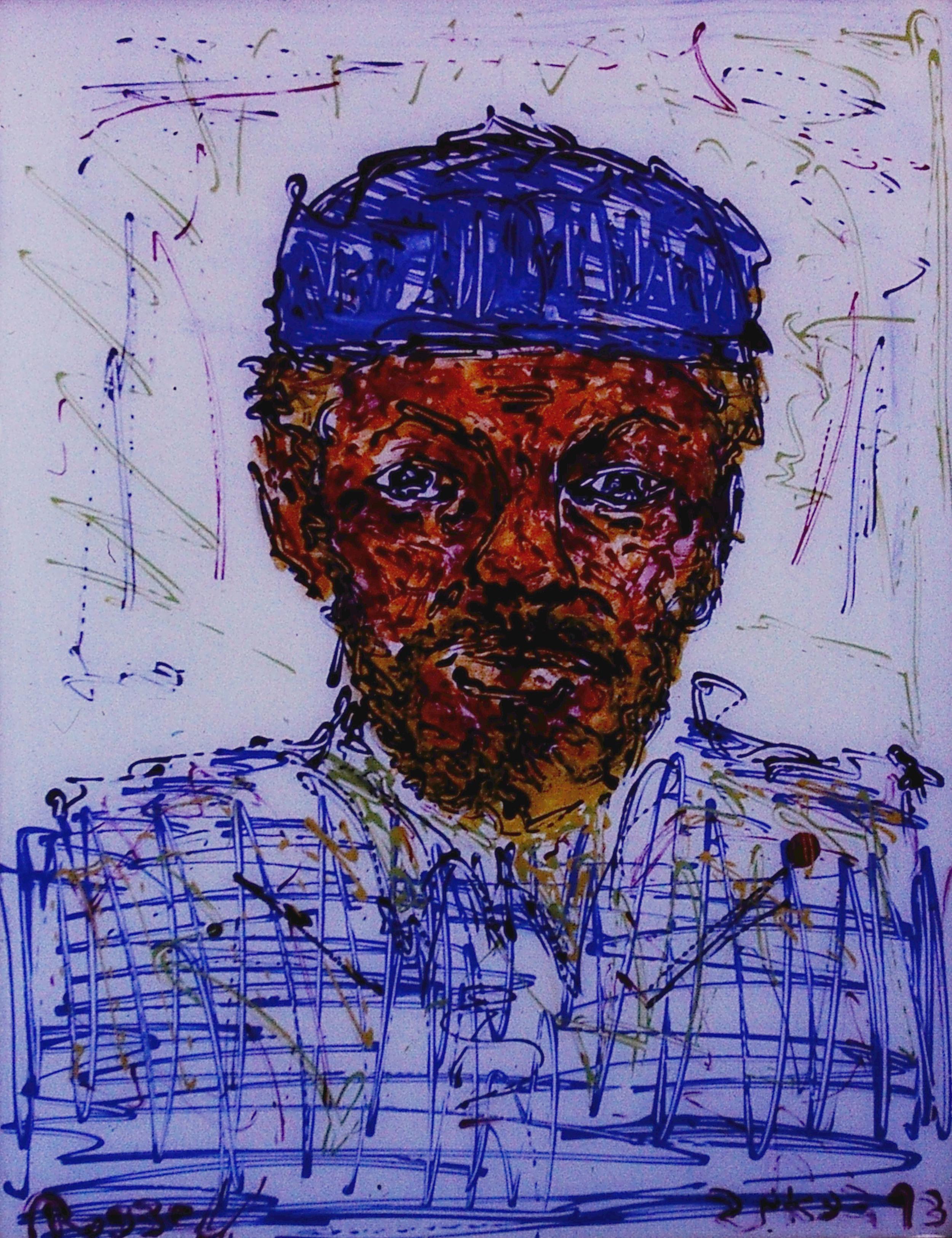 Self Portrait on Glass 1993