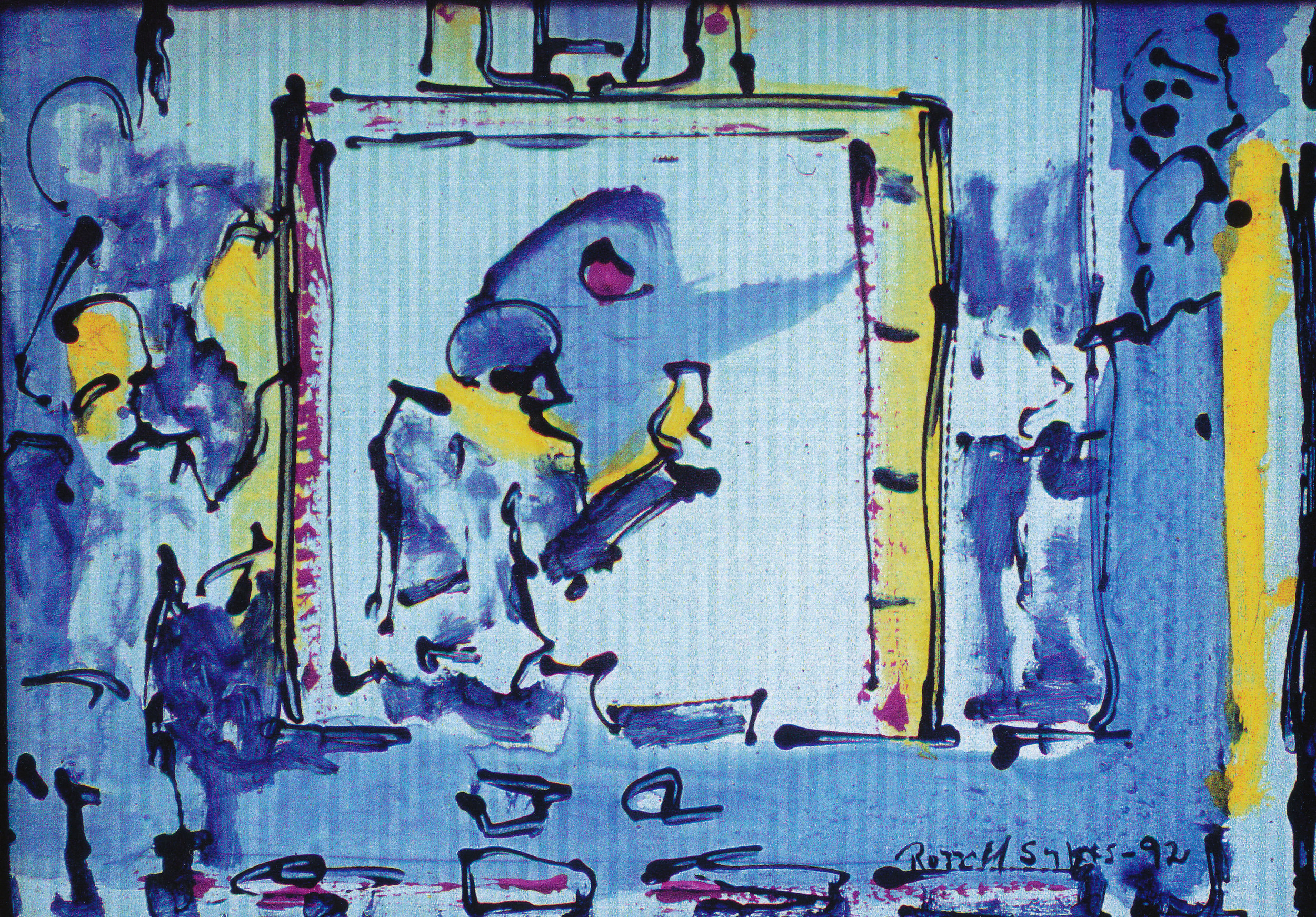 The Studio...Image of a Painter During the Riots 1992