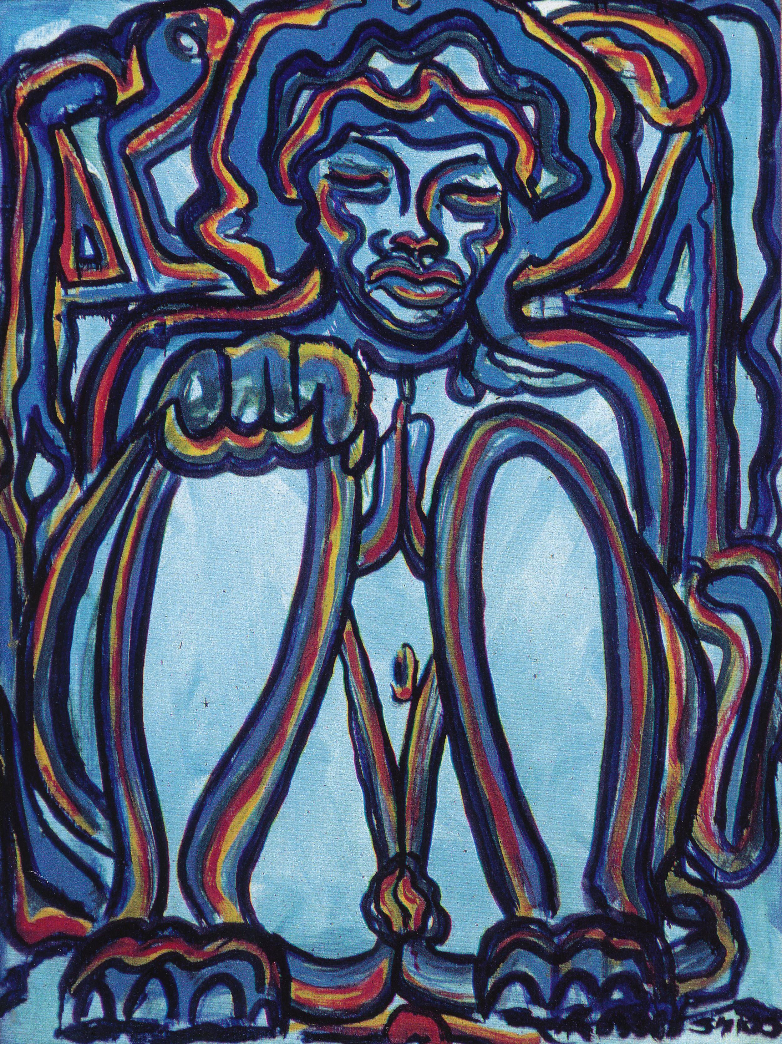 Sittin' Nude - Blue 1967