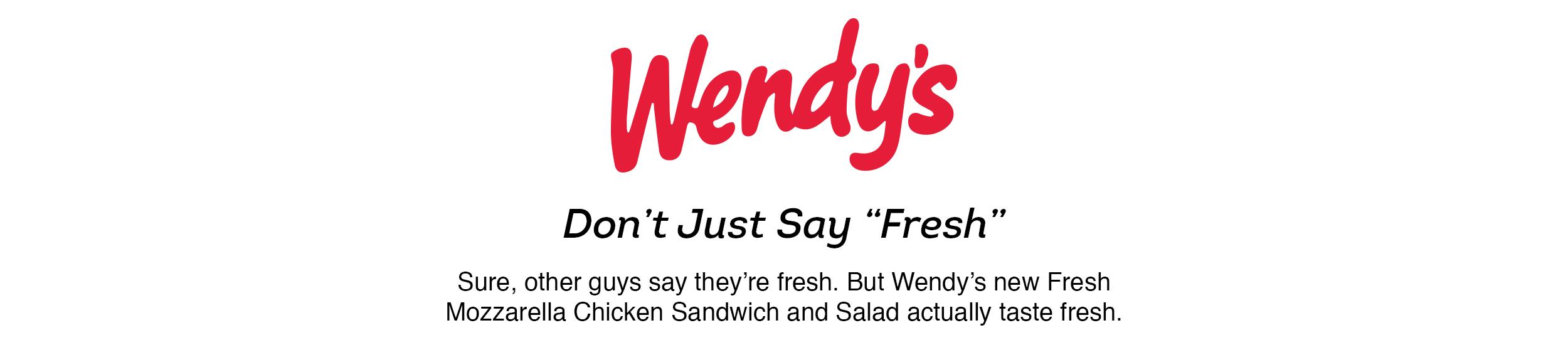 wendy's fresh